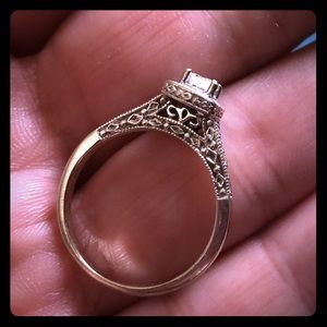 💍WHITE GOLD ✨PRINCESS CUT DIAMOND RING-KAY TRADE